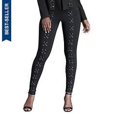 Lace-Up Ponte Skinny Pants