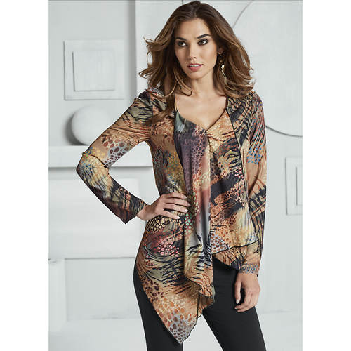Long Sleeve Woven Tunic