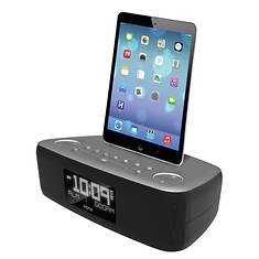 iHome Lightning Dock with Dual Alarm FM Stereo Clock Radio