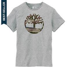 Timberland Men's Dunstan River Camo-Print Logo Tee