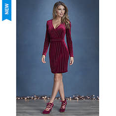 Velvet Rhinestone Dress