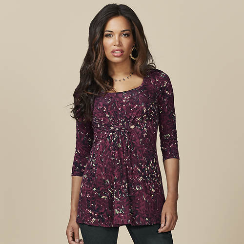 Women's Gathered-Front Top