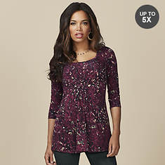Gathered Front 3/4 Sleeve Top
