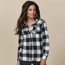 Women's Flannel Button-Front Shirt