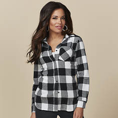 Women's Flannel Button-Front Shirt