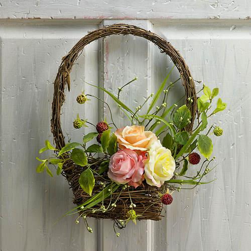 Roses & Berries Basket Wreath