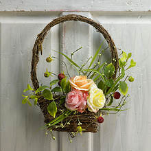 Roses & Berries Basket Wreath