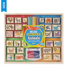 Melissa & Doug Wooden Stamp Set - Animals