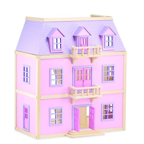 Melissa Doug Multi Level Wooden Dollhouse