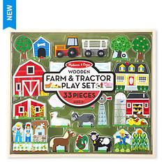 Melissa & Doug Wooden Farm & Tractor Play