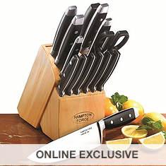 Hampton Forge Continental 15-Piece Cutlery Block Set