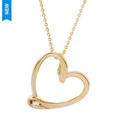 Jilco Gold Heart with Diamond Necklace