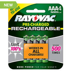Rayovac AAA Rechargeable Batteries 4-Pack