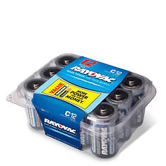 Rayovac C Batteries 12-Pack