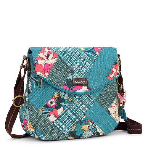 Sakroots Artist Circle Foldover Crossbody Bag
