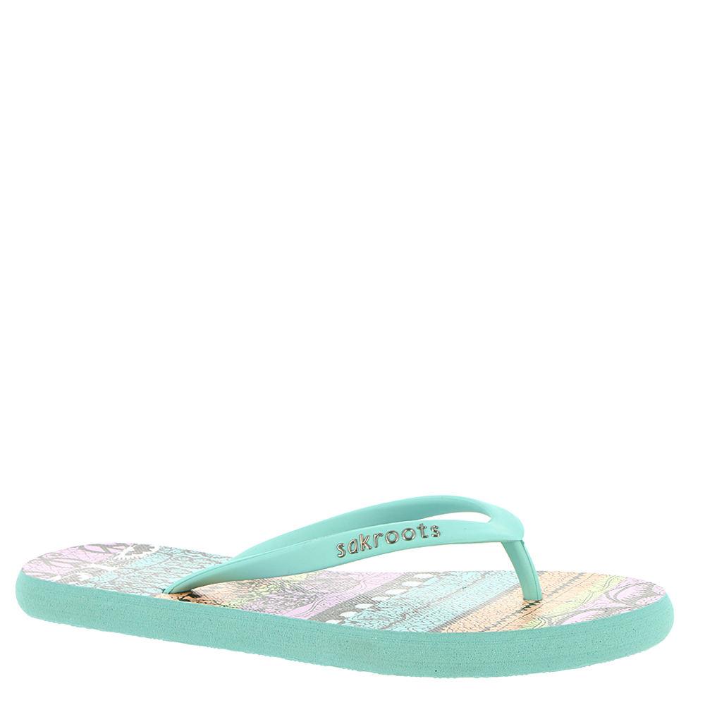 Sakroots Encore Flip Flop Sandal Women's Sandal 7 B(M) US Aqua 4HJDmD5w
