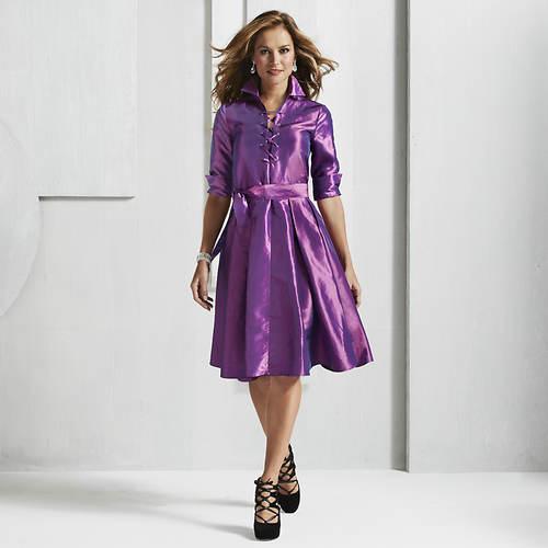 Lavish Lace-Front Dress