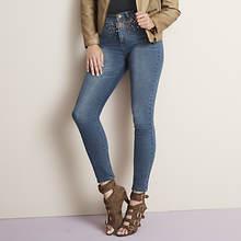 Rhinestone Embellished Jeans
