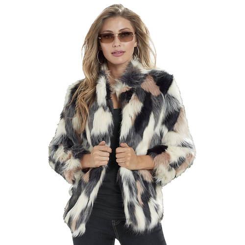Multi Color Faux Fur Coat Masseys