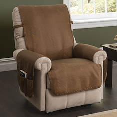 Faux Leather Memory Foam Recliner Cover
