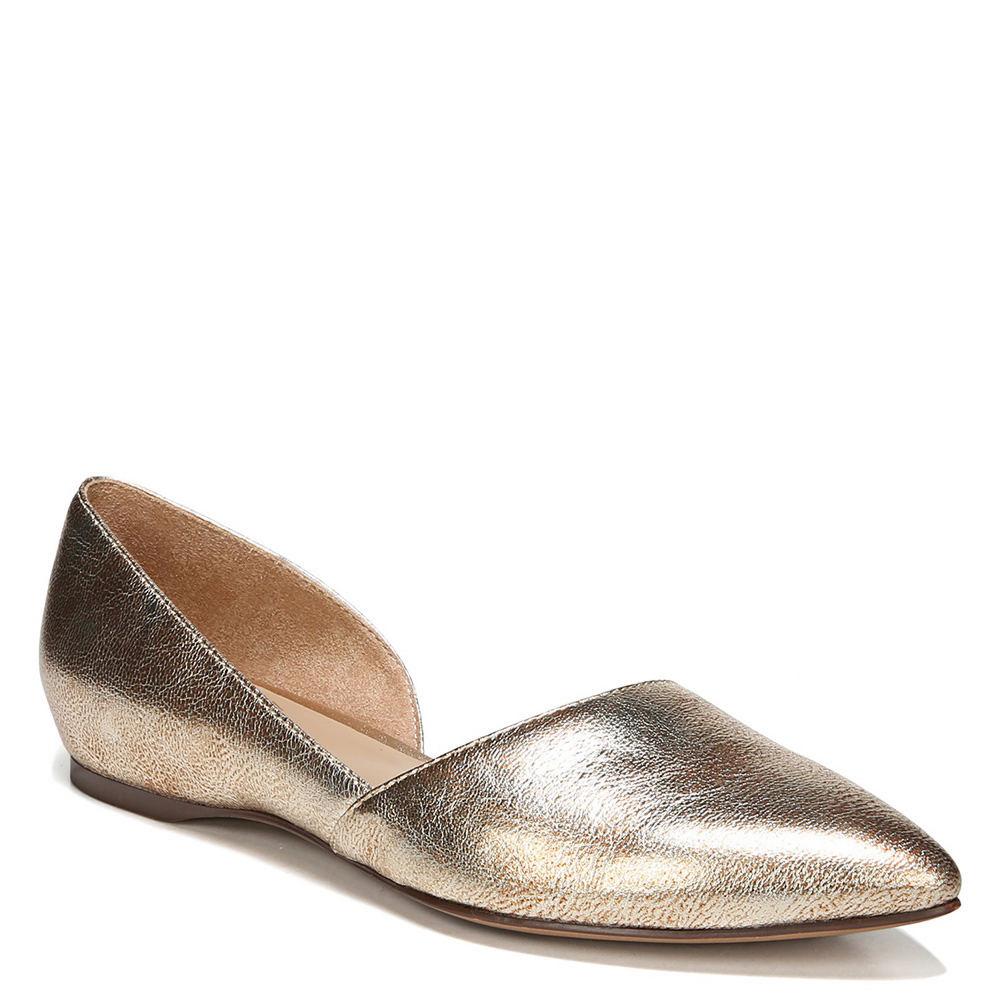 Retro Vintage Flats and Low Heel Shoes Naturalizer Samantha Womens Gold Slip On 12 W $89.95 AT vintagedancer.com