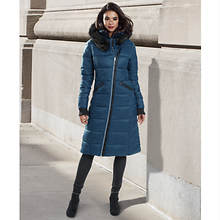 Double Collar Long Puffer Coat