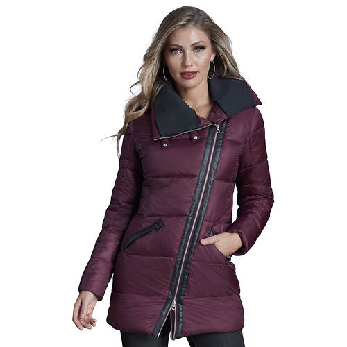 High Collar Longline Puffer Coat