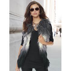 Forever Ombre Faux Fur Vest