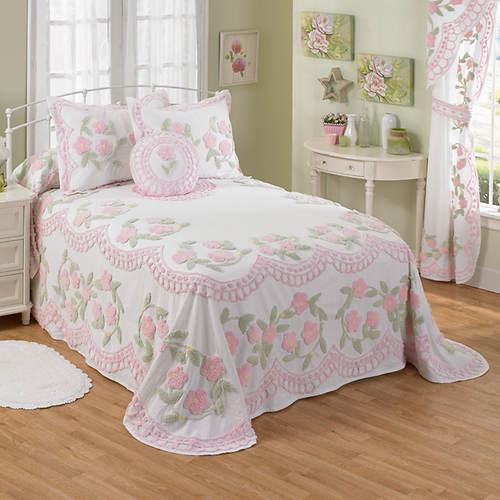 Chenille Bedspreads.Floral Garden Chenille Bedspread