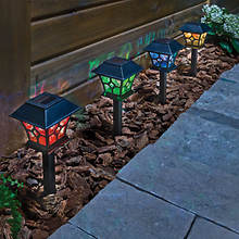 Color Changing Solar Path Lights- Set of 2