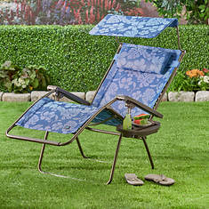 Deluxe XL Gravity Recliner-Blue