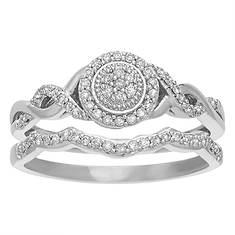 Women's 1/5 ct. tw. Diamond Halo Bridal Set