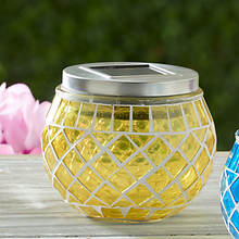 Solar Mosaic Lights-Chartreuse