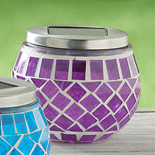 Solar Mosaic Lights-Purple