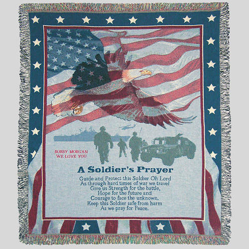 Personalized A Soldier's Prayer Throw