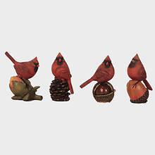 Resin Birds-Set of 4-Cardinals