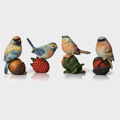 Resin Birds-Set of 4
