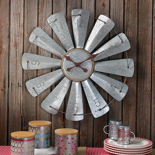 Galvanized Farm Clock