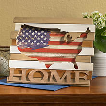 Wood Americana Home Sign
