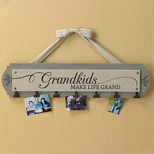 Wood Grandkids Photo Clip Sign
