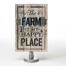Wood Farm Table Signs-Farm Happy Place