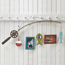 Wood Fishing Pole Picture Frames