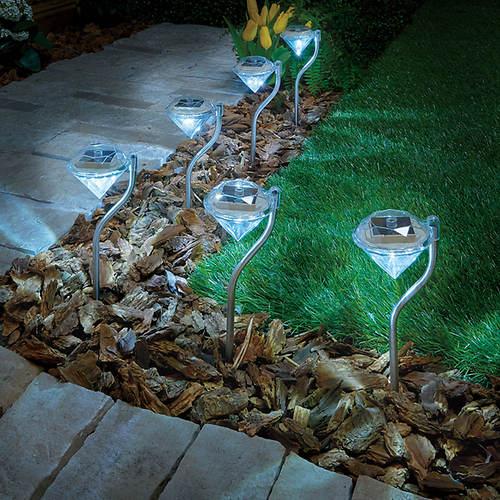 Diamond Solar Lights-Set of 6