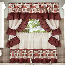 Cottage Window Set with Braided Rug