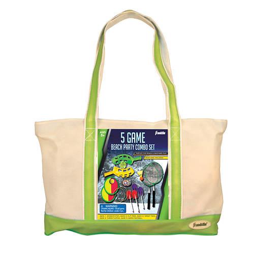Franklin Sports 5-Game Beach Bag Combo Set