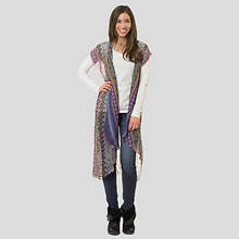 Long Shawl/Cover Up-Purple