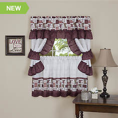 Achim Inspiration Cottage Window Treatment Set