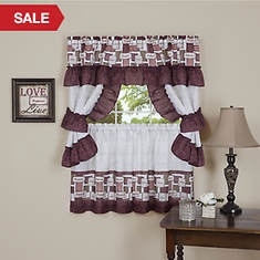 Inspiration Cottage Window Treatment Set