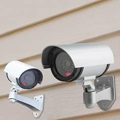 2-Pack Mock CCTV Cameras - Opened Item