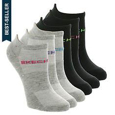 Skechers Women's S105599 No Show 6 Pack
